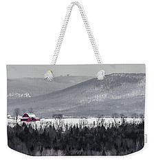 Distant Red Barn Weekender Tote Bag