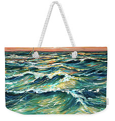 Distant Sail At Sunset Weekender Tote Bag