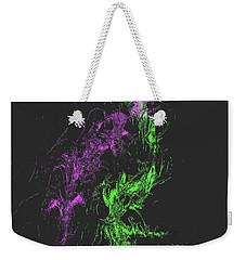 Weekender Tote Bag featuring the digital art Distortion by John Krakora