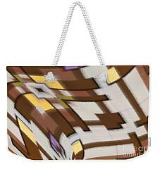 Weekender Tote Bag featuring the digital art Distortion by Wendy Wilton