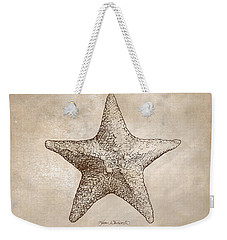 Distressed Antique Nautical Starfish Weekender Tote Bag