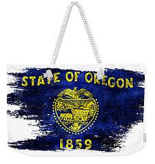 Distressed Oregon Flag Weekender Tote Bag by Jon Neidert