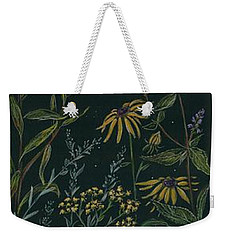 Weekender Tote Bag featuring the drawing Ditchweed Fairy Tiger Swallowtail by Dawn Fairies