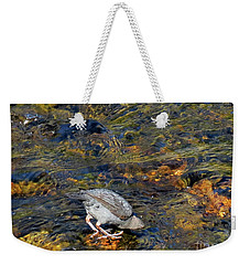 Weekender Tote Bag featuring the photograph Diving For Food by Ausra Huntington nee Paulauskaite
