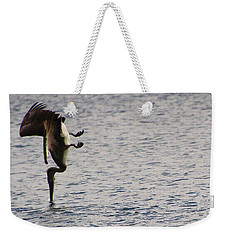 Diving Pelican Weekender Tote Bag