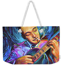 Django Reinhardt  Weekender Tote Bag by Robert Phelps