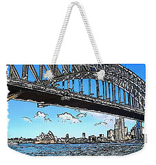 Weekender Tote Bag featuring the photograph Do-00058 Sydney Harbour Bridge And Opera House by Digital Oil