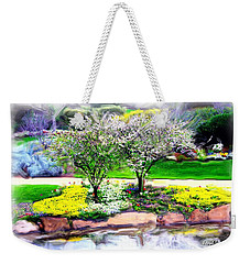 Weekender Tote Bag featuring the photograph Do-00066 Lake Walk by Digital Oil