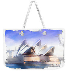 Weekender Tote Bag featuring the photograph Do-00109 Opera House by Digital Oil
