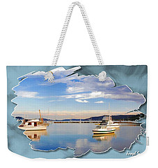 Weekender Tote Bag featuring the photograph Do-00115 Boats In Gosford by Digital Oil