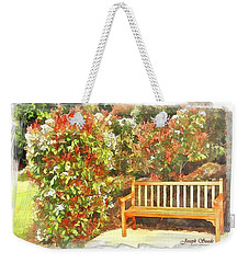 Weekender Tote Bag featuring the photograph Do-00122 Inviting Bench by Digital Oil