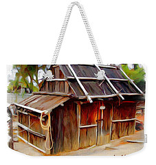 Weekender Tote Bag featuring the photograph Do-00129 Old Cottage by Digital Oil