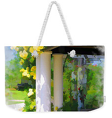 Weekender Tote Bag featuring the photograph Do-00137 Yellow Roses by Digital Oil