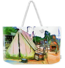 Weekender Tote Bag featuring the photograph Do-00139 Tent by Digital Oil