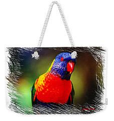 Do-00153 Colourful Lorikeet Weekender Tote Bag