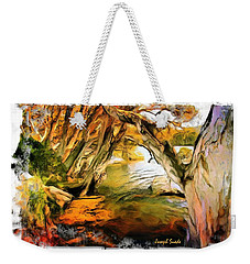 Weekender Tote Bag featuring the photograph Do-00268 Trees On Water In Avoca Estuary by Digital Oil