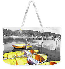 Do-00279 Yellow Boats Weekender Tote Bag
