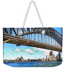 Weekender Tote Bag featuring the photograph Do-00284 Sydney Harbour Bridge And Opera House by Digital Oil
