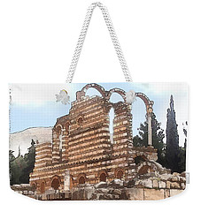 Do-00302 Ruins In Anjar Weekender Tote Bag