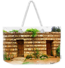 Weekender Tote Bag featuring the photograph Do-00305 Old Hutt In Anjar by Digital Oil