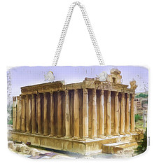 Do-00312 Temple Of Bacchus In Baalbeck Weekender Tote Bag