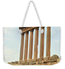 Do-00314 The 6 Corinthian Columns In Baalbeck Weekender Tote Bag
