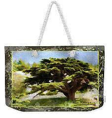 Do-00318 Cedar Barouk - Framed Weekender Tote Bag
