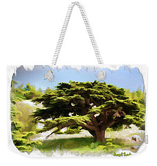 Do-00319 Cedar Tree Weekender Tote Bag