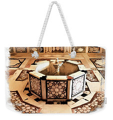 Weekender Tote Bag featuring the photograph Do-00323 Old Bath Fountain by Digital Oil
