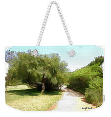 Weekender Tote Bag featuring the photograph Do-00336 -pathway Bois Des Pins by Digital Oil