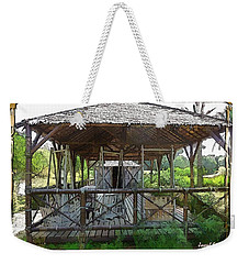 Weekender Tote Bag featuring the photograph Do-00341 Cabin Outdoor Bois Des Pins by Digital Oil