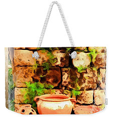 Weekender Tote Bag featuring the photograph Do-00348 Jars In Byblos by Digital Oil