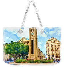 Do-00358 The Clock Tower Weekender Tote Bag