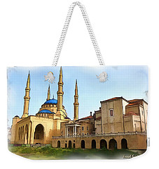 Weekender Tote Bag featuring the photograph Do-00362al Amin Mosque And St George Maronite Cathedral by Digital Oil