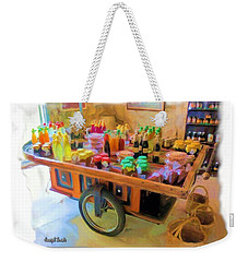 Weekender Tote Bag featuring the photograph Do-00391 Wheel Stand by Digital Oil