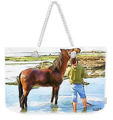 Do-00421 Washing Horse In Mina Weekender Tote Bag
