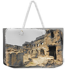 Weekender Tote Bag featuring the photograph Do-00452 Inside The Ruins by Digital Oil