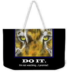 Weekender Tote Bag featuring the digital art Do It Motivational by Darren Cannell