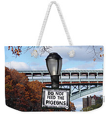 Do Not Feed The Pigeons Weekender Tote Bag by Cole Thompson