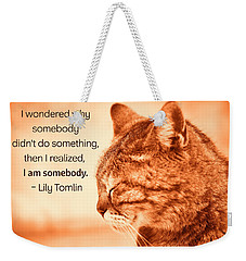 Do Something - Orange Cat Weekender Tote Bag