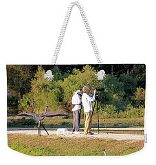 Weekender Tote Bag featuring the photograph Do You See Any Birds? by Rosalie Scanlon