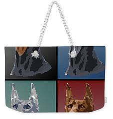 Doberman Colors Weekender Tote Bag by Kathie Miller