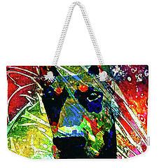 Doberman Custom Portrait Weekender Tote Bag