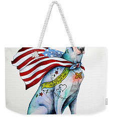 Doberman Napolean Weekender Tote Bag by Patricia Lintner