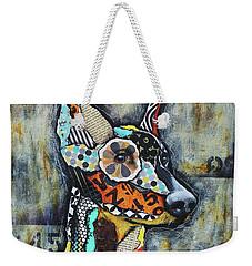 Doberman Pinscher Weekender Tote Bag by Patricia Lintner