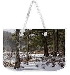 Doc Lee Rd In The Winter Weekender Tote Bag