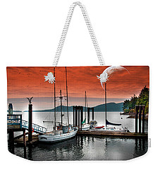 Dock And The Moon Weekender Tote Bag