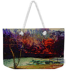 Weekender Tote Bag featuring the photograph Dock At Central Park by Sandy Moulder