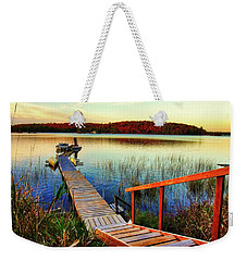 Dock At Gawas Bay Weekender Tote Bag