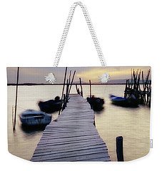 Dock At Sunset Weekender Tote Bag by Marion McCristall
